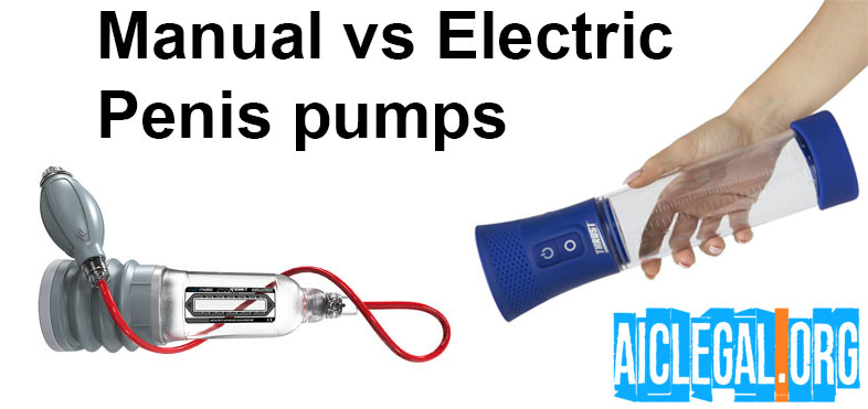 manual vs electric penis pump