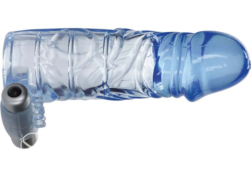 Vibrating Extension Sleeve Blue 5 Inch