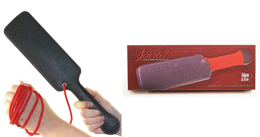 Adam & Eve Scarlet Couture Spank Me Paddle