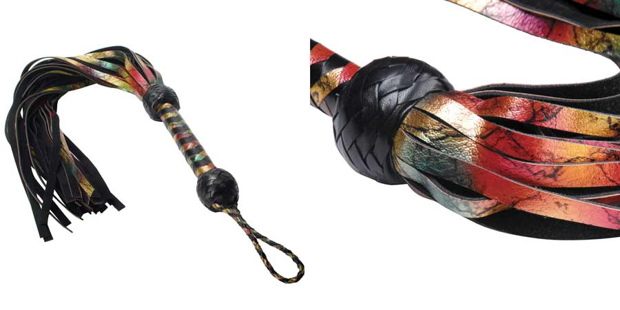 Rainbow Lambskin Leather Flogger review